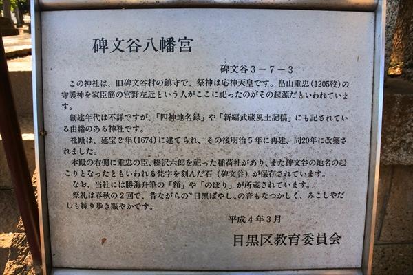 碑文谷八幡宮 歴史