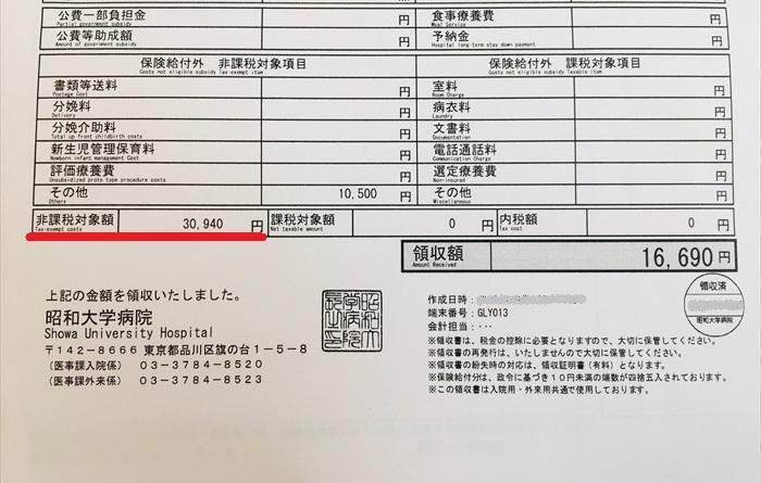 昭和大学病院 産婦人科 料金