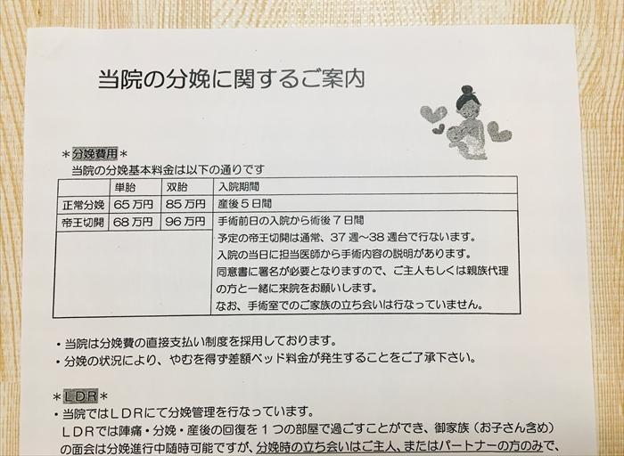 昭和大学病院 分娩費用