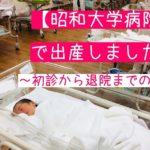 昭和大学病院 出産 ブログ